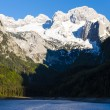 View at Dachstein from Vorder-Gosausee lake — Stock Photo #65242939