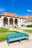 Valdstejnska Garden and Prague Castle, Prague — Стоковое фото