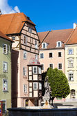 Complex of medieval houses called Spalicek, Cheb — Stock Photo