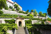Ledeburska Garden and Prague Castle, Prague — Fotografia Stock