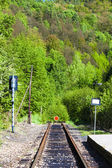 Sections of the railway track — Стоковое фото