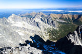 View from Lomnicky Peak, Vysoke Tatry — Stock Photo