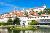 Valdstejnska Garden and Prague Castle — Stok fotoğraf