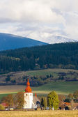 Fortified church in Liptovske Matiasovce — Stock Photo