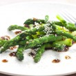 Green asparagus with sesame — Stock Photo #66699863