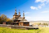 Trä, museum av den ukrainska kyrkbyn — Stockfoto