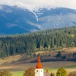 Fortified church in Liptovske Matiasovce, Slovakia — Stock Photo #69085029