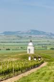 Capilla con viñedo cerca de velke bilovice, república checa — Foto de Stock