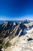 View from Lomnicky Peak, Vysoke Tatry (High Tatras), Slovakia — Stock Photo