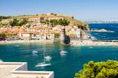 Town and harbour of Collioure, Languedoc-Roussillon, France — Stock Photo