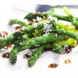 Green asparagus with sesame — Stock Photo #69705511