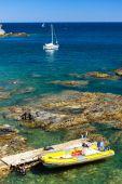 Dalgıçlar, Cap de Peyrefite, Languedoc-Roussillon, Fransa — Stok fotoğraf