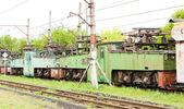 Electric locomotives, Kostolac — Stock Photo