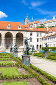 Valdstejnska Garden and Prague Castle, Prague, Czech Republic — Stock Photo