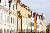Renaissance houses in Telc, Czech Republic — Stock Photo