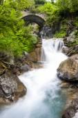 Waterfall near Sambuco, Piedmont, Italy — Stock Photo