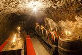 Wine cellar in Velka Trna, Tokaj wine region, Slovakia — Stock Photo