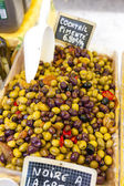 Olives, market in Nyons, Rhone-Alpes, France — Stock Photo