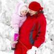 Mother with little daughter in winter — Stock Photo #76712703
