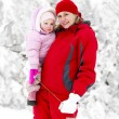 Mother with little daughter in winter — Stock Photo #78958968