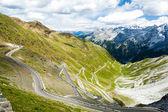 Road at Passo dello Stelvio, Alto Adige, Italy — Stock Photo