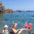 Snorkeling in Mediterranean Sea — Stock Photo #78963146