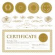 Vector Gift Certificate and Seal Set — Stock Vector #68455779