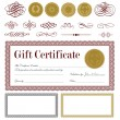 Vector Gift Certificate and Seal Set — Stock Vector #68456349