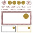Vector Gift Certificate and Seal Set — Stock Vector #68456987