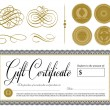 Vector Gift Certificate and Seal Set — Stock Vector #68457343