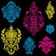 Vector Bright Victorian Ornament Set — Stock Vector #68458399