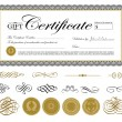 Vector Gift Certificate and Seal Set — Stock Vector #68458541