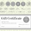 Vector Gift Certificate and Seal Set — Stock Vector #68459039