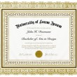 Vector Ornate Diploma with Border — Stock Vector #68459489