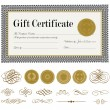 Vector Gift Certificate and Seal Set — Stock Vector #68459509