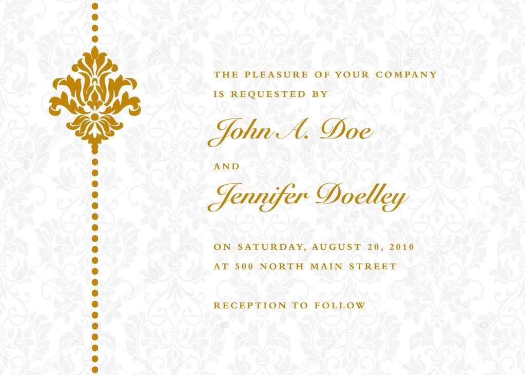 Invitación de la boda de oro Letras \u2014 Vector de stock 68458061