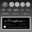 Vector Gift Certificate and Seal Set — Stock Vector #68460001