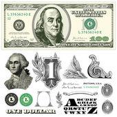 Vector Miscellaneous Monetary Ornaments — Stock Vector