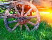 wheel of old carriage — Stock Photo