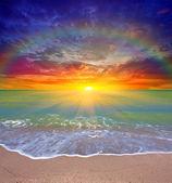 Coucher de soleil sur la mer — Photo