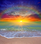 закат над морем — Стоковое фото