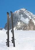 Ski in mountains — Stock Photo