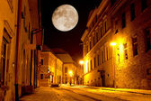 Night scene in old city — Stock Photo
