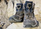 Taş turist çizme — Stok fotoğraf