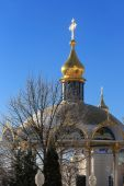 Pochaev's Lavra at nice winter day — Stock Photo