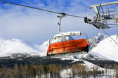 Skilift on winter resort — Stock Photo