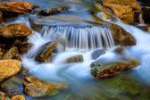 Cascade of mountain waterfall — Stock Photo
