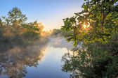 Nice sunrice landscape over river  — Foto Stock