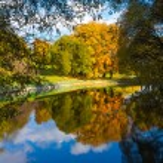 Park in autumn — Stock Photo #54701623