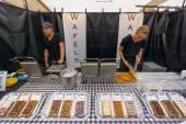 Traditional Dutch waffles — Stock Photo